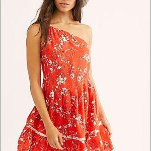 Free People All Mine Mini Dress Medium Orange New